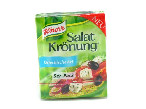 German Knorr Salatkrönung Salad-Dressing Greek Style - 1 x 5 pieces