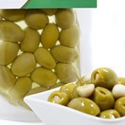deli med - Greek Queen Olives Stuffed with GARLIC - 220g