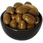 The Raw Greek, Green Cracked Olives with Lemon, Garlic and Oregano - 200g