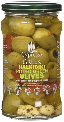 Cypressa Cypressa Greek Halkidiki Pitted Green Olives 380 g (Pack of 6)