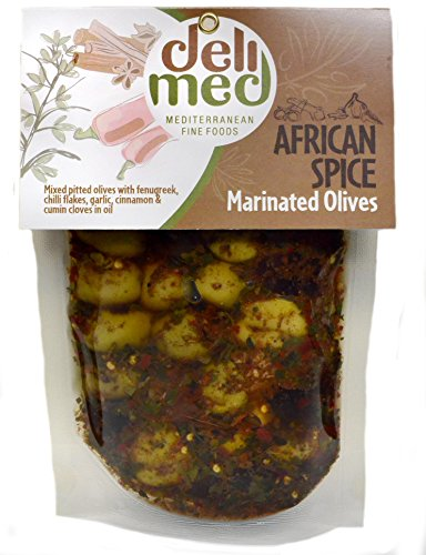 deli med - Marinated Greek Olives African Spice 220g