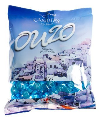 Greek Ouzo Candies, Alcohol Free, Net Weight: 200gr