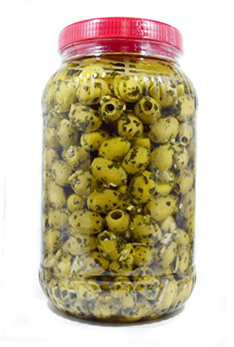 deli med - Marinated Greek Pitted Olives - LEMON, GARLIC & CORIANDER - 2.9 Kg