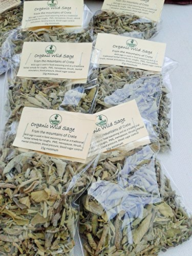 Cretan dried wild organic Sage (15g packet)