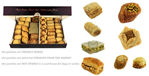 1kg Assorted Baklawa Baklava Home Made Recipe Freshly Baked and Shipped UK