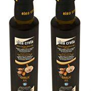 Elea Creta Extra Virgin Aromatic Greek Olive Oil with Garlic 500ml Glass Bottle