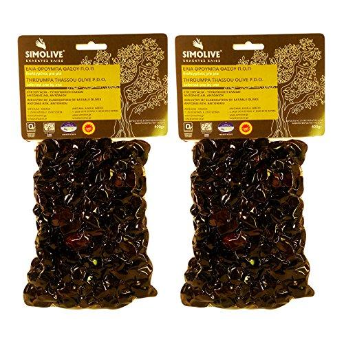 Simolive Greek Throuba Olives from Thassos Vacuum-sealed