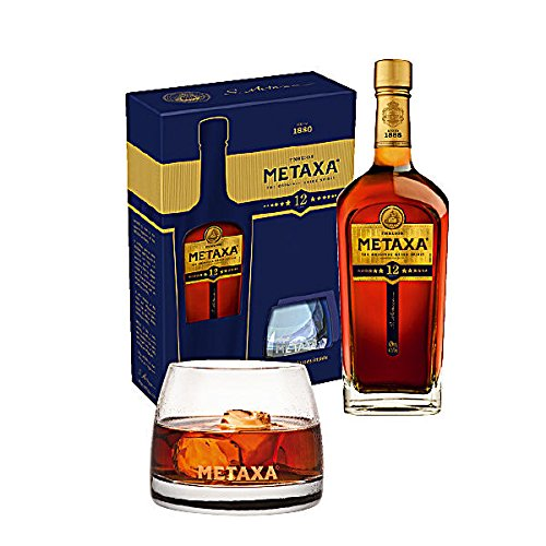 Metaxa 12 Star Greek Brandy 40% vol 70cl + 2 Tumbler Gift Set