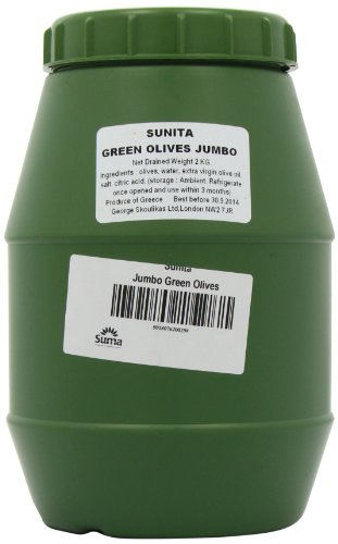 Sunita Green Jumbo Olives 2Kg drained weight