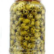 deli med - Marinated Greek Pitted Olives - LEMON, GARLIC & CORIANDER - 2.9 Kg