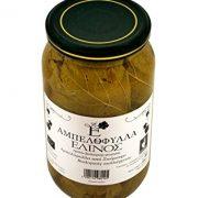 Elinos Greek Organic Vine Leaves Net Weight 950gr Glass jar