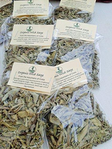 Cretan dried wild organic Sage (15g packet)