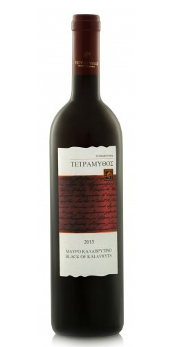 Tetramythos Black of Kalavryta 2015 ORGANIC Greek red wine made in the most natural way!