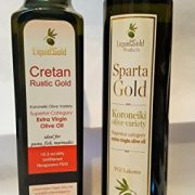 Luxury Gift set of two superb Greek extra virgin olive oils - Sparta Gold and Cretan Rustic Gold