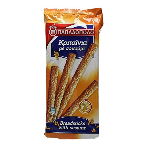 PAPADOPOULOU GREEK BREADSTICKS WITH SESAME traditional recipe 130g