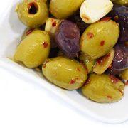 deli med - Marinated Greek Olives CHILI & GARLIC - 220g