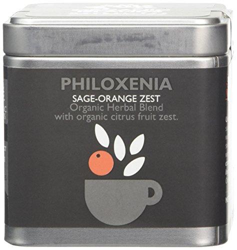 Organic Islands Philoxenia Greek Organic Herbal Tea Cube - Natural Remedy-Sage-Orange Zest 28.35 g