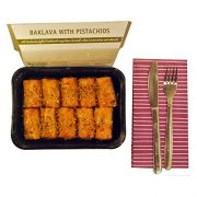 Greek Handmade Baklava with Pistachio Nuts & Syrup Traditional Flavour - Rich Aromas Net Weight 900gr
